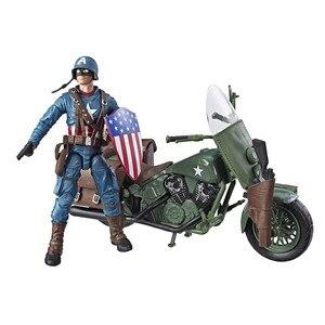 "Image 1 - ML Legends World War II Captain Americanกับจักรยาน6 ""Loose Action Figure"