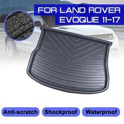 Dla Land rover evoque 2011 2012 2013 2017 tylna mata bagażnika samochodu wodoodporna podłogowa maty dywan anty błoto taca mata do wyłożenia podłogi bagażnika na