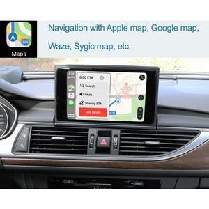 Image 3 - واجهة Apple CarPlay اللاسلكية لأودي A6 ، A7 ، 2012 2018 ، مع وظيفة HDMI ، رابط المرآة ، AirPlay ، Android ، للسيارة