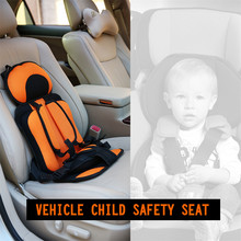 Children Safety Seat 9M-5Y Small Portable Car Interior Accessories Cushion With Baby Safe Belt Fabric Mat Toddler Safe Carrier(China)