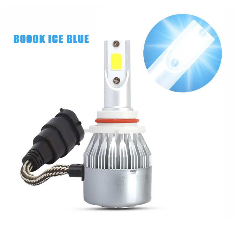 1PC ICE Blue Car <font><b>LED</b></font> Headlights C6 8000K Car Bulb H1 H3 H4 <font><b>H7</b></font> 9005 9006 36W 8000LM COB Car <font><b>Head</b></font> <font><b>Light</b></font> <font><b>Lamp</b></font> Auto Headlamps image