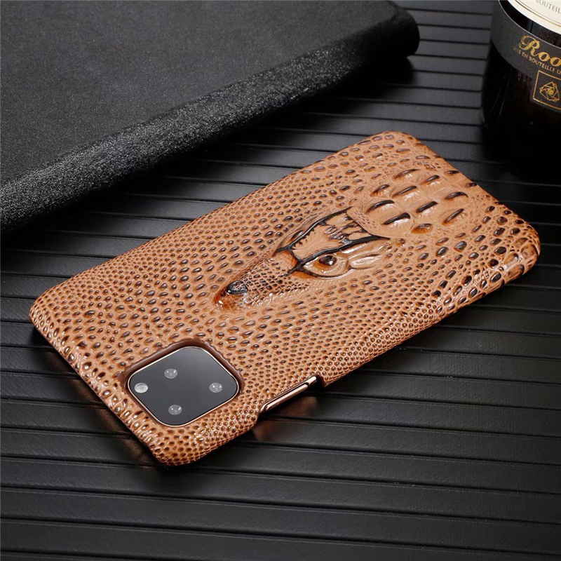 Genuine Leather Cow Hide Stereoscopic 3D Case for iPhone 11/11 Pro/11 Pro Max 27