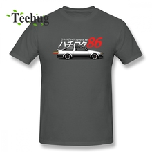 3D Print AE86 Trueno T Shirt For Man Popular Initial D Anime Male Round Collar Homme Tee