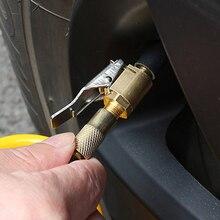 Adaptador de bomba de coche, compresor automático, kit de ajuste de rueda de neumático, inflador de mandril de aire, válvula, adaptador de abrazadera de Clip para bomba automática