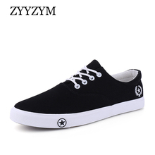 ZYYZYM Men Canvas Shoes Lace-Up Unisex Style Light Breathable Fashion Sneakers Flat Lovers Student