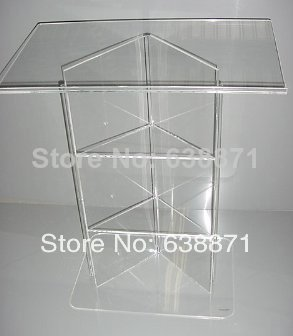 High-end Atmosphere Floor Standing Acrylic Lectern