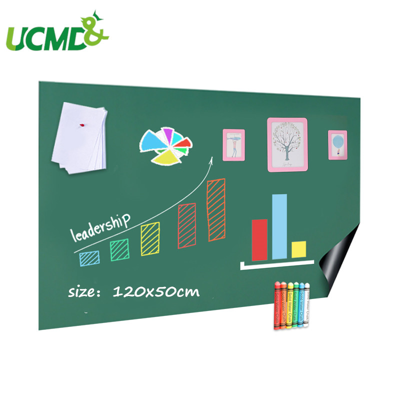 120x50cm Wall Sticker Soft Hold Magnets Blackboard Chalk Drawing Writing Learning Note Board For Kids Baby Living Room Wallpaper