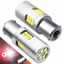 2pcs 9-30V 1156 BA15S P21W LED 3030 SMD 30 LED Bulbs 20W White Lamps For Auto Car Turn Signal Reverse Brake Tail Backup Lights цена и фото