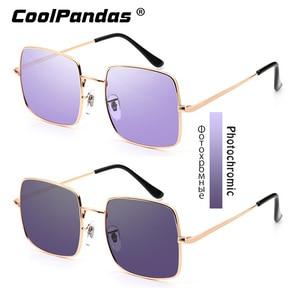 Image 2 - 2019 แฟชั่นสีม่วงสีฟ้าPhotochromicแว่นตากันแดดผู้หญิงUV400 สุภาพสตรีแว่นตาSunแว่นตาขับรถแว่นตาZonnebril Dames