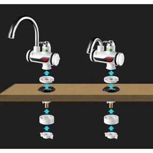 Image 5 - 3000W טמפרטורת תצוגת ברז מים חמים מיידי Tankless חשמלי ברז מטבח מיידי חם ברז דוד מים חימום