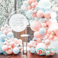 130 Uds. Maca Color durazno Macaron arco de globos, fiesta de cumpleaños 2,2g Pastel globos guirnalda Deco cumpleaños Baby Shower niños niñas