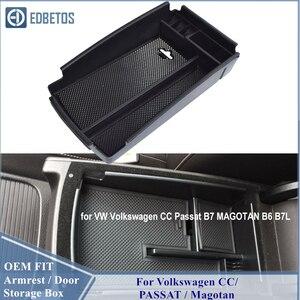 For Volkswagen PASSAT B6 B7 2006 - 2013 Car Armrest Box Center Console Storage Glove Box Organizer Insert Tray For Volkswagen CC