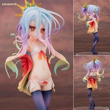 Anime No Game No Life Aquamarine Shiro Swimsuit Bikini Ver. PVC Action Figure Collectible Sexy Girl Model Toy Doll 20cm lelakaya