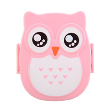 Cute Owl Lunch Box Food Container Storage Portable Kids Student Plastic Bento With Compartments Case