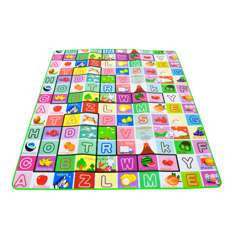 Hb28bf6b4197c4ad3822044b7a5889ff9B 0.5cm Thickness Children's Rug Baby Playing Mats Soft EVA Foam Double Side Patterns Child Carpets For Kids Crawling Gym Mats