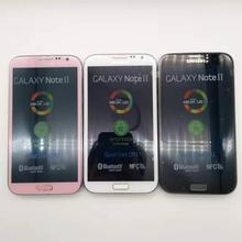 """Разблокированный мобильный телефон samsung Galaxy Note 2 II N7100 5,"""" четырехъядерный 8MP gps WCDMA отремонтированный смартфон"""