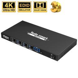 DHL Бесплатная доставка HDMI матрица 4x4 Ultra HD матричный переключатель 4K 4In 4 выход с RS232 ИК-пультом дистанционного управления до 4K * 2K (3840*2160) HDCP 3D
