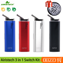 Airistech cigarrillo electrónico Original Airis, vaporizador de hierbas secas, batería de 2200mAh, cámara de cerámica, bolígrafo de vapeo para cera de hierbas