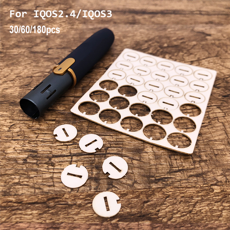 30/60/180pcs Repair Accessories Clean Tool Little Slice Clean Gasket For IQOS 2.4 Plus Absorb Oil Gasket