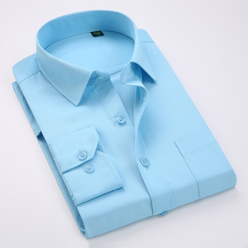 High Quality Classic Twill  Men's Social Shirts Long Sleeve Regular Fit  Casual Plus Size 5xl Dress Shirt