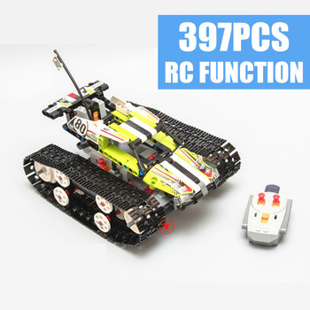 New RC TRACKED RACER Car Electric Motor Power Functions Fit  Technic City Building Block Bricks Model Kid Gift Birthday