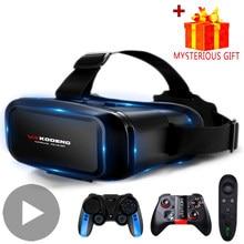 3d vr fone de ouvido realidade virtual óculos inteligentes capacete para smartphones celular celular com controladores lentes óculos binóculos