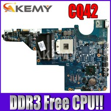 Akemy Main board 595184-001 Für HP CQ42 CQ62 G42 G62 Laptop motherboard HM55 DDR3 Freies CPU!!(China)