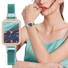 2021 NOUVELLE Montre Top Marque De Luxe Dames Décontracté Mode Numérique En Acier Inoxydable Maille Bracelet WatchDress Mode Montre ultra mince