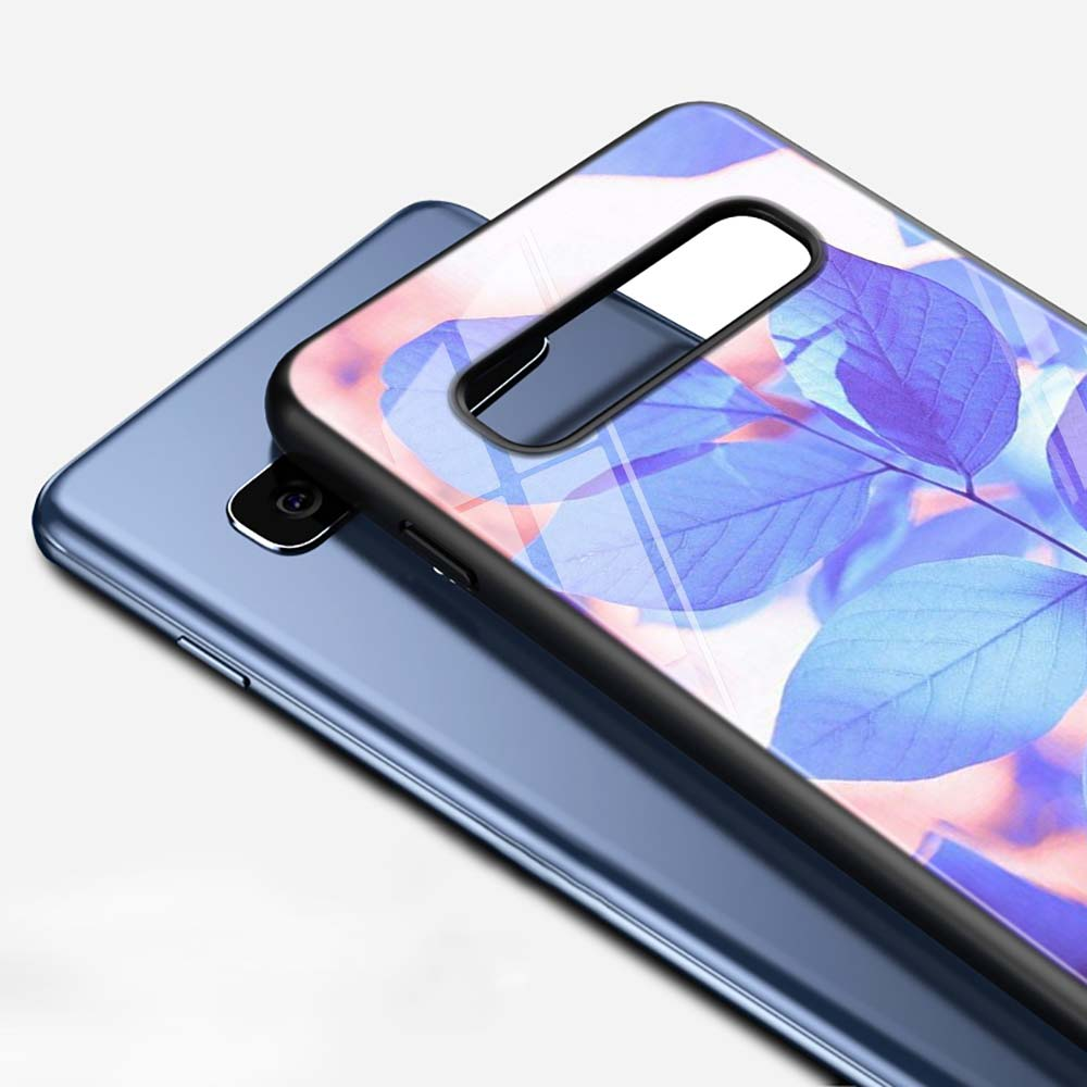 Flower Leaf for Samsung Galaxy Note 10 9 8 Pro S10e S10 5G S9 S8 S7 Plus Super Bright Glossy Phone Case Cover in Fitted Cases from Cellphones Telecommunications