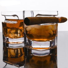 brandy smith clear wishes Home Use Ultra Clear Cigar Crystal Whiskey Glass Cup Wine Brandy Liquor Beer Water Thicken Square Tumbler For House Bar Party