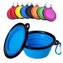 350/1000ML Pet Bowl Folding Silicone Travel Dog Bowl Walking Portable Water Bowl For Small Medium Dog Cat Bowls Pet Eating Dish