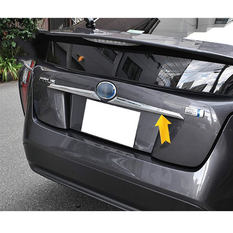 For Toyota Prius 2016 2017 2018 ABS Chrome Car Auto Styling Tailgate Rear Door Trunk Lid Cover Trim 2pcs|Chromium Styling| |  - title=