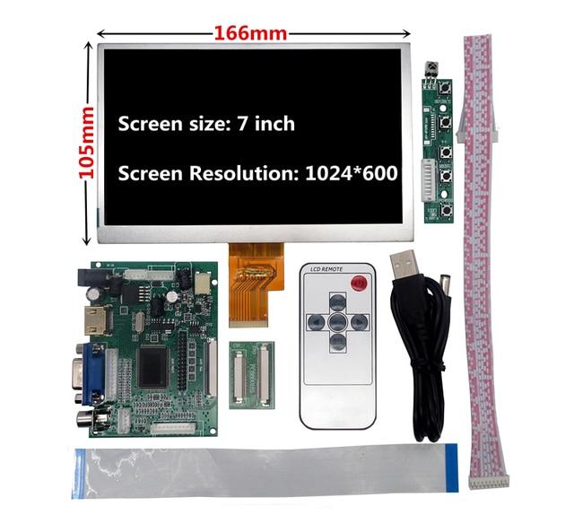Pantalla LCD de 7/8/9/10,1 pulgadas 1024*600 con Monitor de placa de controlador HDMI VGA para Raspberry Pi Banana/naranja Pi Mini ordenador