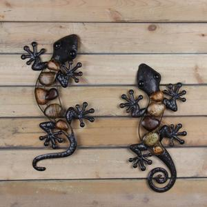 Image 3 - Home Decor Metal Gecko Wall for Garden Decoration Outdoor Statues Accessories Sculptures and Animales Jardin