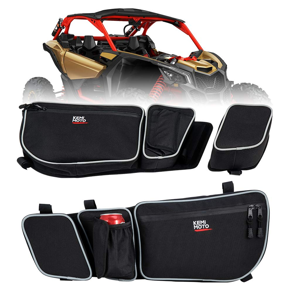 UTV Passenger And Driver Side Door Bags Side Storage Bag Knee Pad For Can Am Maverick X3 Max R Turbo DPS 4x4 2017 2018
