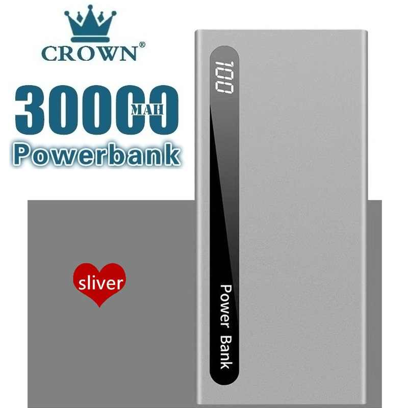 30000Mah Power Bank Draagbare Externe Batterij Ultra-Dunne Powerbank Dual Usb Poverbank Charger Voor Iphone Xiaomi Huawei Samsung