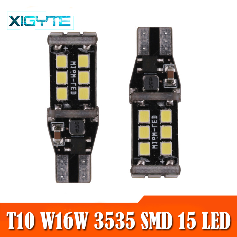 2pcs T15 W16W WY16W 15 SMD 2835 LED Auto Additional Brake Lights CANBUS NO ERROR Reverse Light Car Turn Signals Car Styling