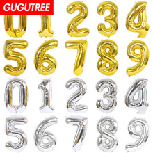 40inch rose Gold Silver big size Number balloon Foil Helium Balloons Birthday Party Celebration decoration large globos HY-44