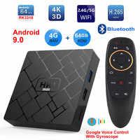 HK1 MAX Android 9.0 Smart TV BOX RK3318 Quad core 4GB Ram 64G Rom 2.4G/5G Dual WIFI Bluetooth 3D 4K HDR H.265 USB3.0 Set Top Box