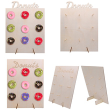 2 Kinds Wooden Table Ornaments Hold Donut Board Stand Hanging Donuts Display Wedding Decoration Baby Shower Kids Birthday Party