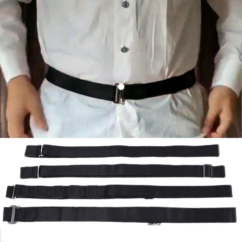 Fashion Shirt Holder Adjustable Near Shirt Stay Best Tuck It Belt For Women Men Work Interview Black 120cm Shirt Anti Slip Belt