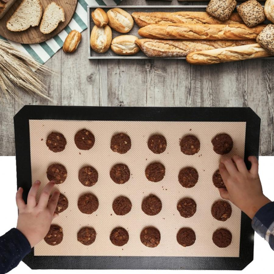 Baking Tool Kitchenware High Temperature Resistant Non-Stick Silicone Baking Mat Pad Cushion Baking Accessories