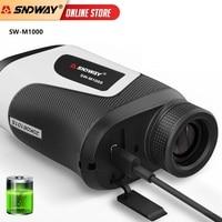 SNDWAY-telémetro láser telescópico para caza, medidor de distancia Monocular 6X para cinta métrica láser de Golf