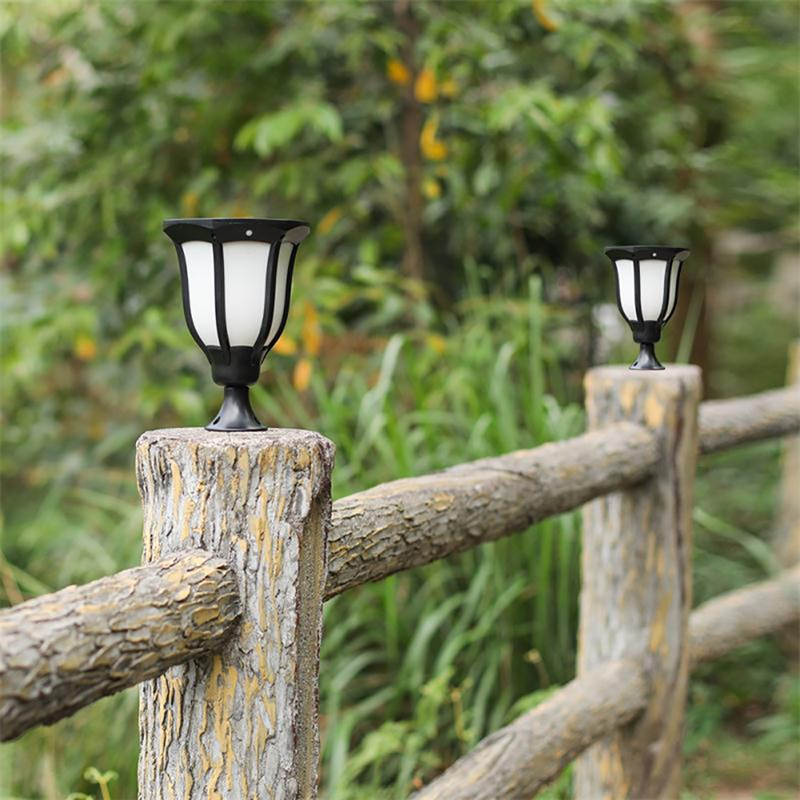 Jardim solar lâmpada do gramado chama sensor