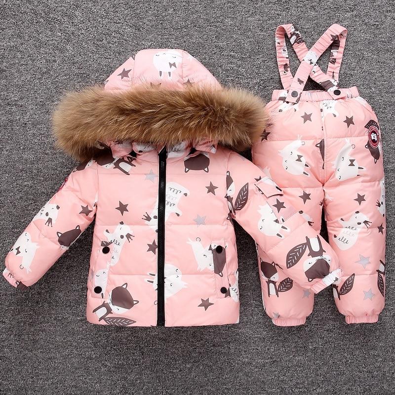 ULKNN 2019 bébé hiver Snowsuit chaud doudoune salopette infantile fille vêtements ensemble 1-4 ans enfants bambin garçons combinaison costume