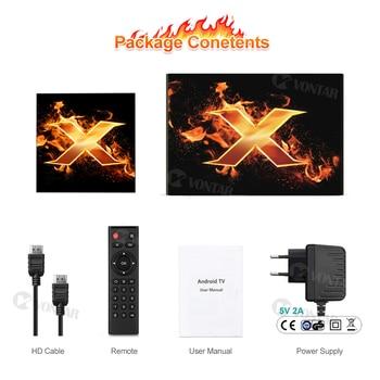 2020 VONTAR X1 Smart tv box android 10 4g 64gb 4K 1080p 2.4G&5G Wifi BT5.0 Google Voice Assistant Youtube TVBOX Set Top Box 6