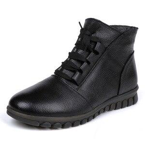 Image 2 - Gktinoo botas de couro legítimo femininas, botas de inverno, cano curto, com zíper, retrô, 2020 sapatos com calçados