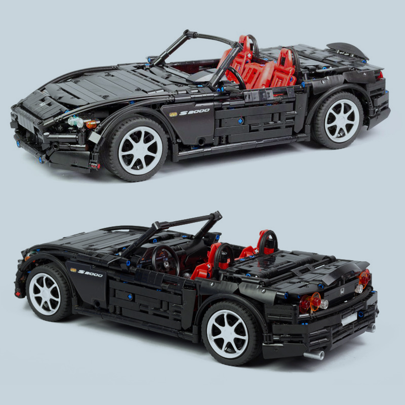 NEW Hot! MOCs Series Racing Car Honda S2000 AP2 MOC 24500 Compatible With Technic Racing Building Blocks Bricks Model Toys