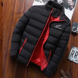 2020 inverno alpine estrelas jaqueta masculina moda gola masculina parka jaqueta masculina sólida grosso casaco e casaco de inverno