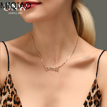 Mode Stainless Steel Name Necklace  Letter or Neck Pendant Logo Gift Women
